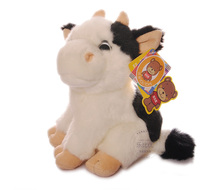 cartoon cow plush toy about 18cm lovely small cow doll baby toy birthday present Xmas gift c868