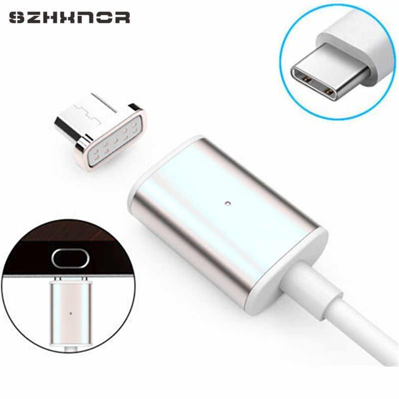 شاحن مغناطيسي 1 متر USB لـ Umidigi S2/Pro Ulefone Power 3 s/المستقبل كريستال Blackview BV8000/BV9000/Pro للهاتف المحمول مغناطيسي