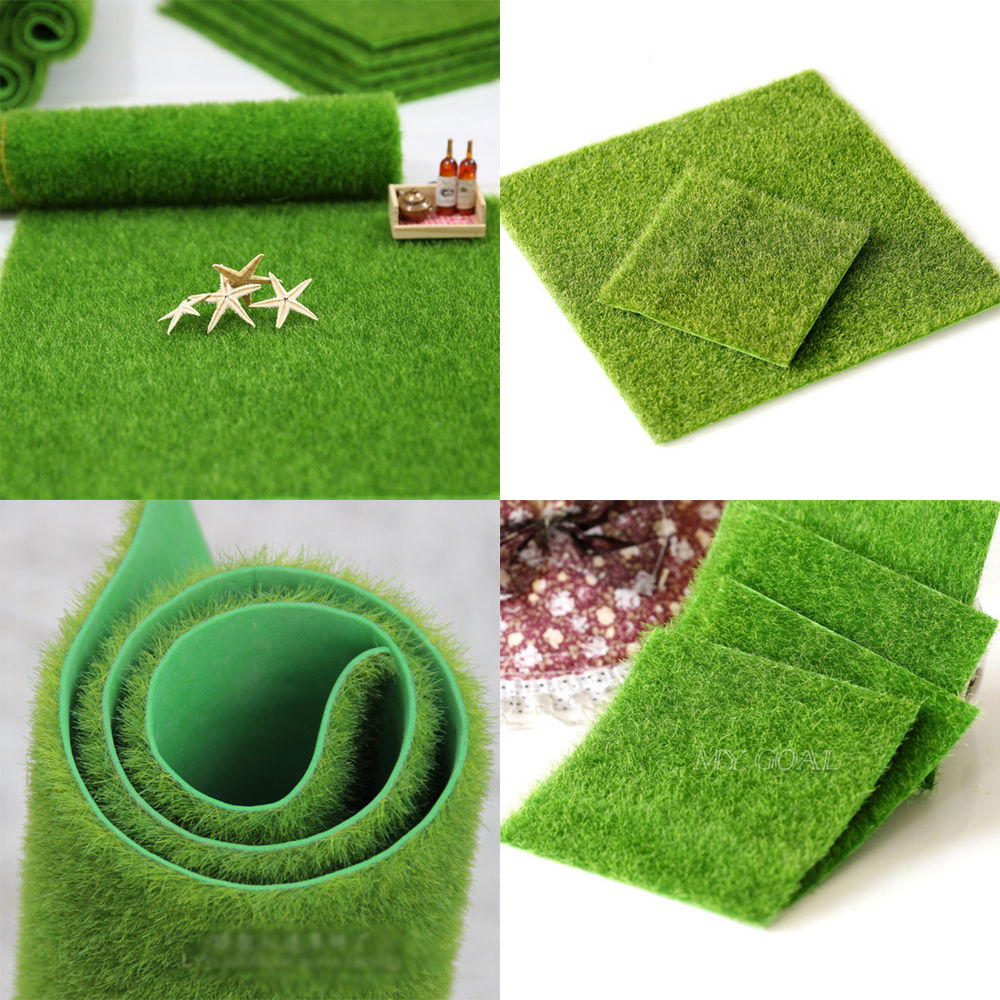 1 Pcs 30CM 15CM Artificial Grass Fake Lawn Simulation Miniature Garden Ornament Dollhouse New