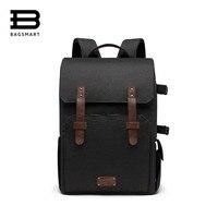 BAGSMART рюкзак для SLR/DSLR камеры s 15,6 Сумка для ноутбука с водостойким дождевик крепление штатива