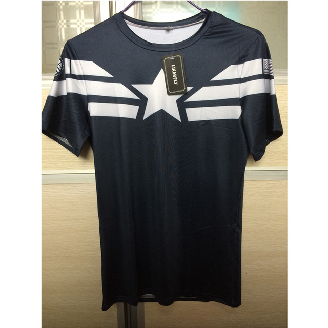 Superhero Compression Shirt Captain America Iron man Fit Tight 4