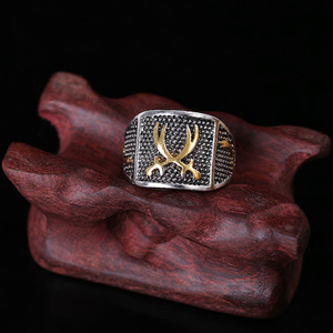 Image 2 - Vintage ouro & prata cor amante anéis para mulher muçulmano árabe islâmico médio oriente religioso jóias punk legal antigo presente