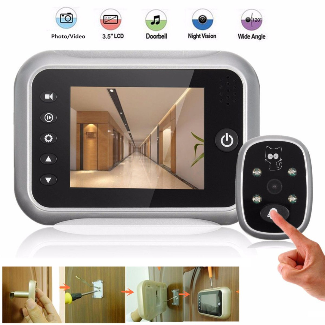 3.5 Wireless LCD Camera Video Door Monitor Doorbell Viewer Digital Door Peephole Viewer Camera Viewer Doorbell