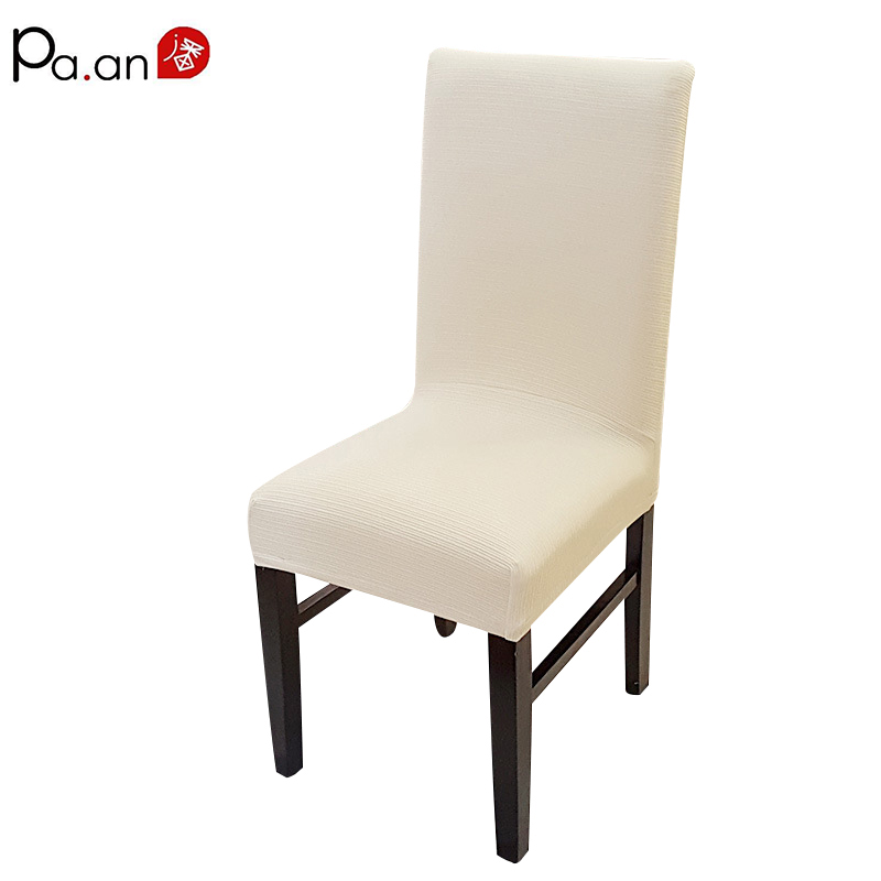 Pa.an Stretch Dining Chair Skydd Spandex Concave Stripe Solid Color - Hemtextil