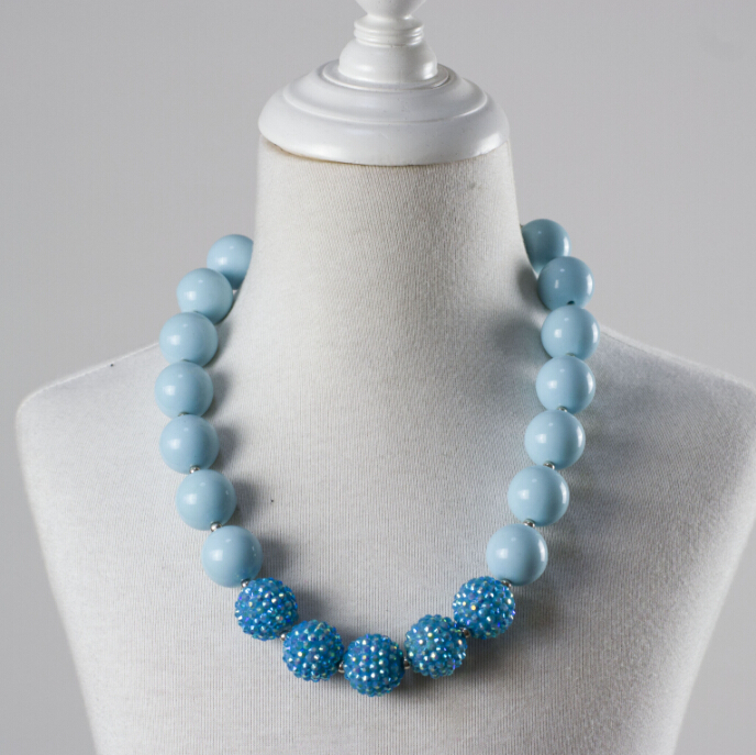 Kids Chunky Bead Necklace Child Bubblegum Necklace Jewelry For Little Baby Girls Necklace