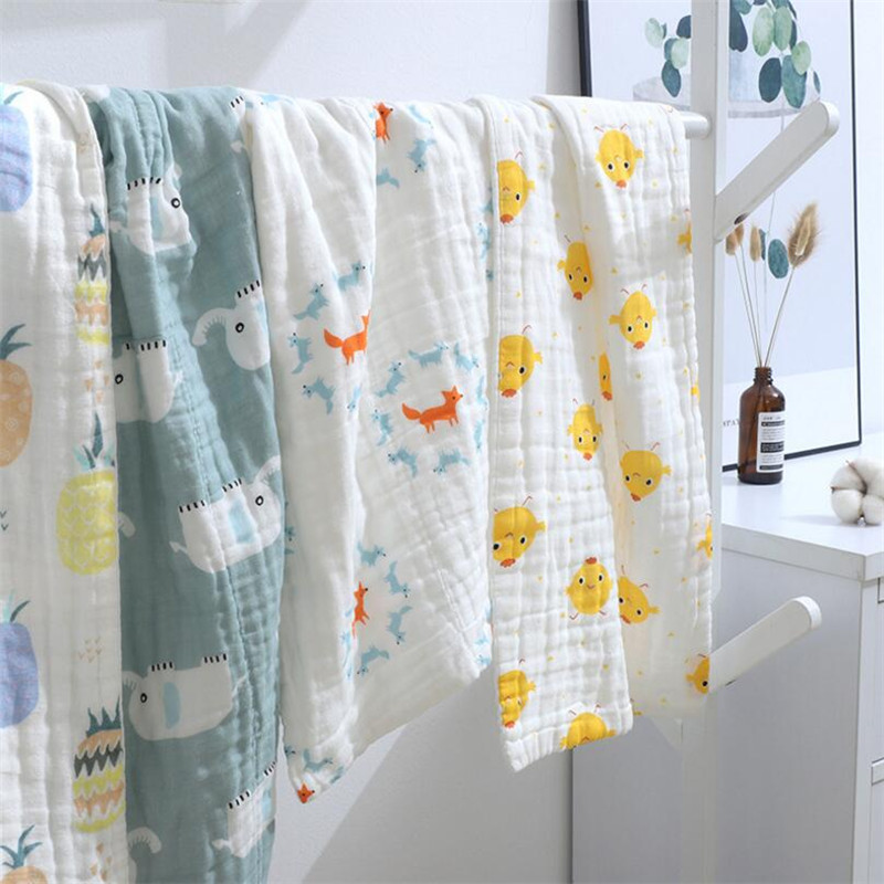 3pcs/lot Baby Muslin Hand Towel 35*75cm Pure Cotton Baby Burp Cloth Infant Kids Face Towel 6 Layers Baby Scarf Saliva Towels