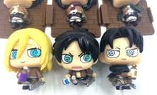 5 Pcs. Set Orginal Attack on Titan Action Figure Toys