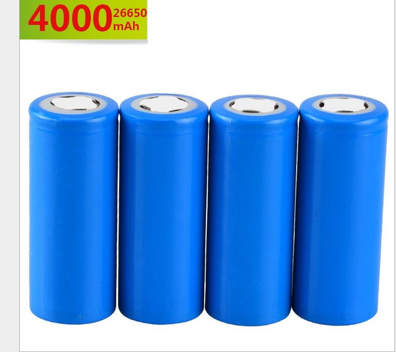 4PCS <font><b>Lifepo</b></font> battery <font><b>26650</b></font> rechargeable battery 3.7V 4000mAh 5A Discharge Lithium li-ion Lifepo4 batteri <font><b>26650</b></font> Cell image
