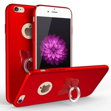 Mobile Phone Case Simple Finger Ring Holder for IPhone 8 Case Hard Coque For iphone 5s se 6s 6 Plus 7 Plus 8 Plus 5 Back Cover стоимость