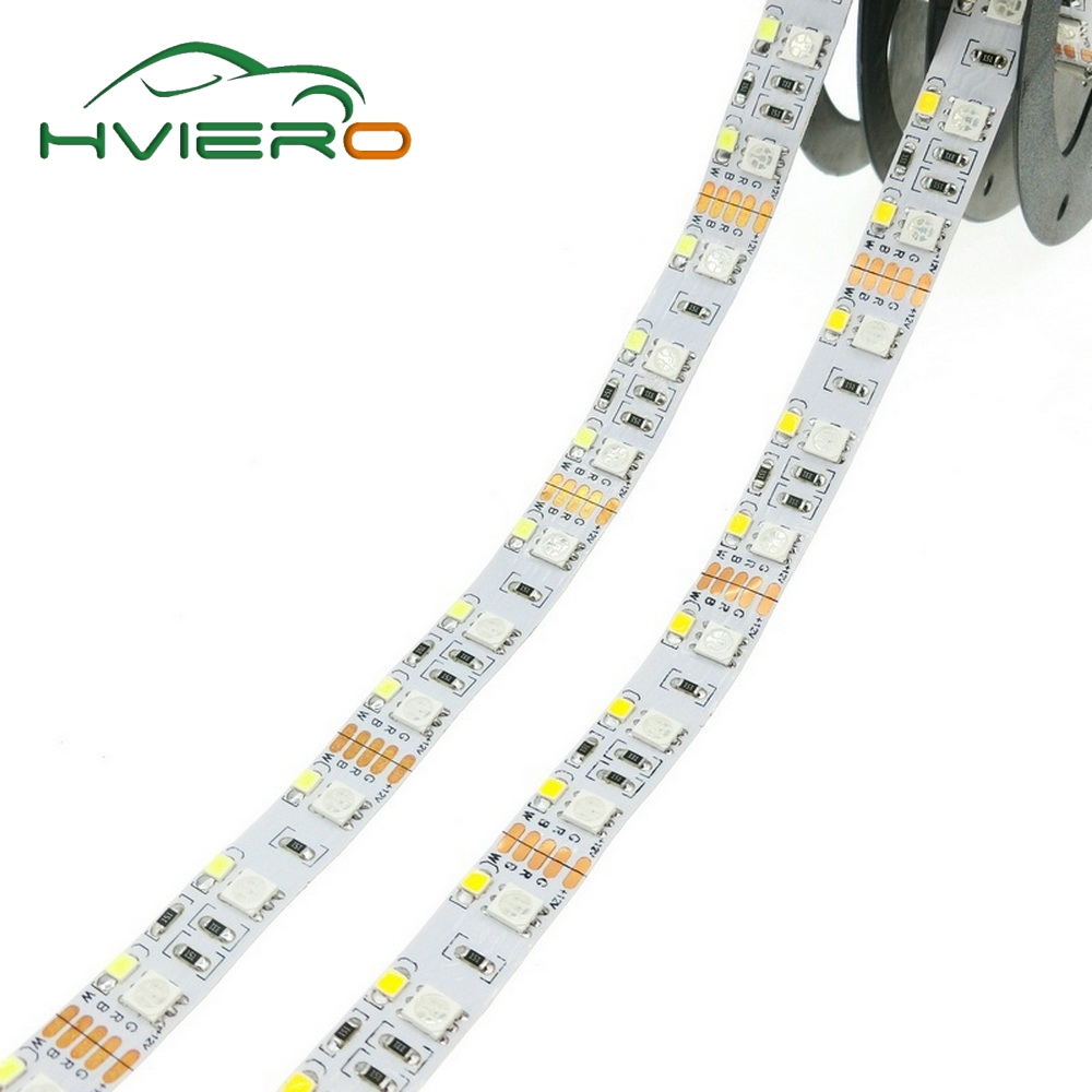 Double Row RGBW LED Strip 5050 RGB 2835 White Warm White DC 12V 120LED/m 5m 600Leds Non-waterproof Home Light FPC LED Holiday hml waterproof dual row 144w 6500lm 600 smd 5050 led warm white light strip w controller 12v 5m