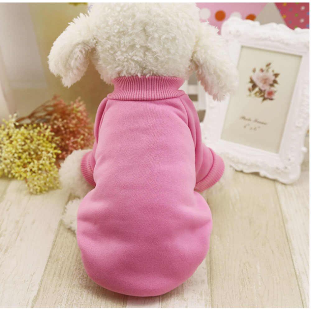 애완 동물 강아지 옷 솔리드 컬러 겨울 따뜻한 소프트 모피 스웨터 스웨터 요크 플러시 편안한 강아지 스웨터 애완 동물 코트 자켓 의류