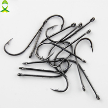 JSM 50pcs 92247 High Carbon Steel Fishing Hooks Sliced Shank Baitholder Barbed Bait Fishing Hook Size 1 1/0 2/0 3/0 4/0 5/0 6/0