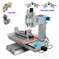 5 Axis Vertical 3040 CNC Router Engraver 1.5KW 2.2KW Column Type Metal Milling Machine with Ball Screw 110/220V