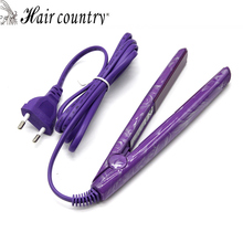 Hair Country Mini Purple Hair Straightener Flat Iron Straightening Comb Personal Care Appliances