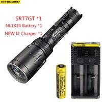 NITECORE SRT7GT CREE XP L HI V3 Red Green Blue UV LED Flashlight max 1000LM beam distance 450 meter tactical torch hunting light