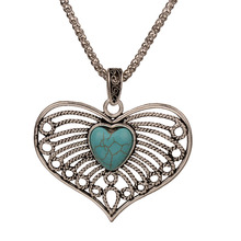 лучшая цена Bohe Antique Silver Color Blue Stone Cute Heart Elephant Owl Pendant Long Chain Vintage Necklace For Women Fashion Jewelry