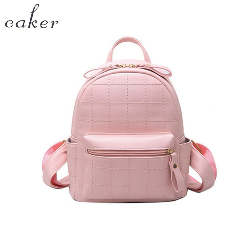 Caker Brand Women Pink Shoulder Bags Preppy Style School Bags Fashion Top Mini PU Bags Lady