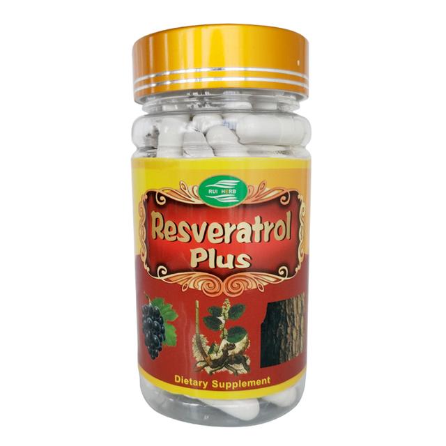 Extrato de Resveratrol Plus Cápsula 500 mg x 90 pcs frete grátis