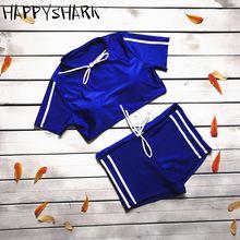 Женский купальный костюм happy shark сексуальный из двух предметов