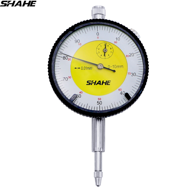 SHAHE 0-10 mm Precision Tool 0.01 mm Dial Indicator Gauge Measurement Instrument dial gauge indicator quality professional precision tool 0 01mm accuracy measurement instrument dial indicator gauge stable performance hot selling