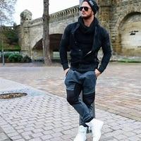 2017 New Casual Brand Bomber Jacket Men Hip Hop Slim Fit Pilot Coat Men S Black