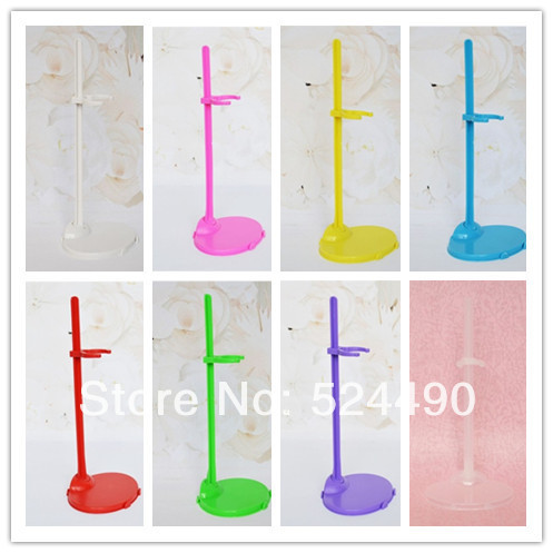 Free Delivery,10pcs/lot Sizzling Promoting Doll Stand Show Holder Equipment For Monster Excessive Barbie Kurhn Ken Doll