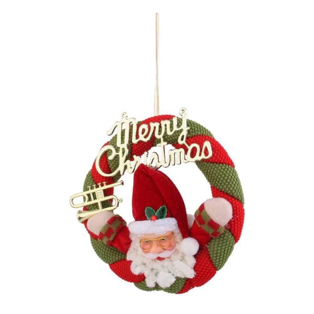 corona de navidad de santa claus colgantes coronas de guirnaldas de navidad de mimbre puerta colgando