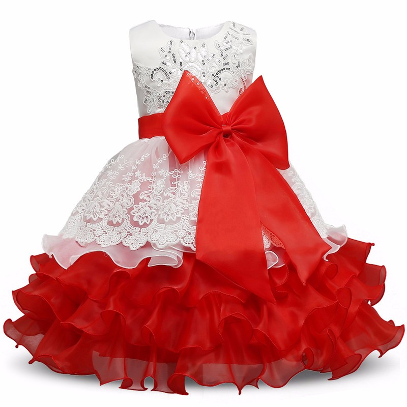 2017 New Year summer Princess Dress for Girls Formal Gown Ball Flower Kids Clothes Christmas Party