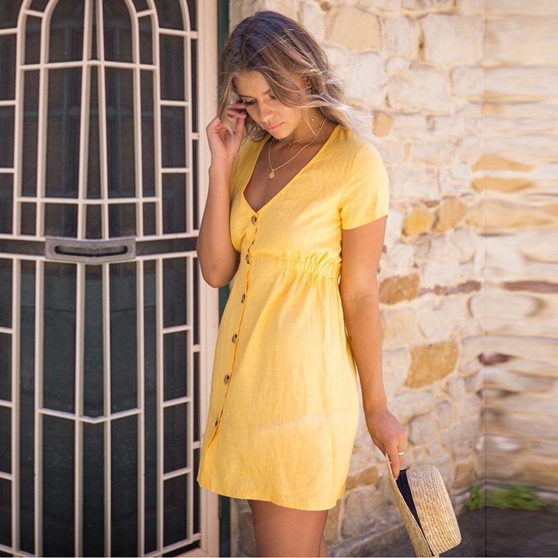 Soulmate 2018 Woman Summer Casual Vintage Hot Sexy Party Beach Dress