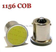 Super brilhante! 6 peças/lote s25 1156 led cob 12smd 1156 ba15s p21w luz de led automotivo, luz branca, 12v led
