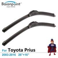 Retrofit Wiper Blade For Toyota Prius 2003 2016 26 16 Car Accessory For Windshield BP UV02