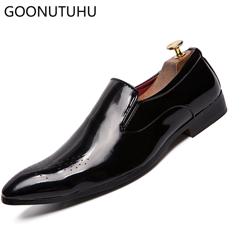 Fashion mens dress shoes leather slip on loafers male classic yellow & black shoe man office wedding party formal shoes for menFashion mens dress shoes leather slip on loafers male classic yellow & black shoe man office wedding party formal shoes for men