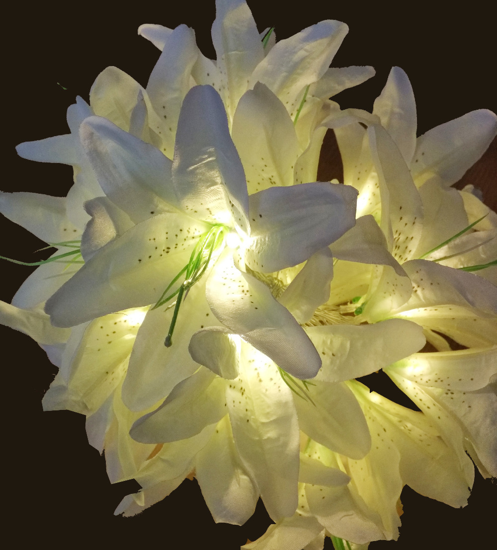 20led battery powered handmade white lily flower fairy light string 20led battery powered handmade white lily flower fairy light string wedding party bedroom christmas garden decor in holiday lighting from lights lighting izmirmasajfo