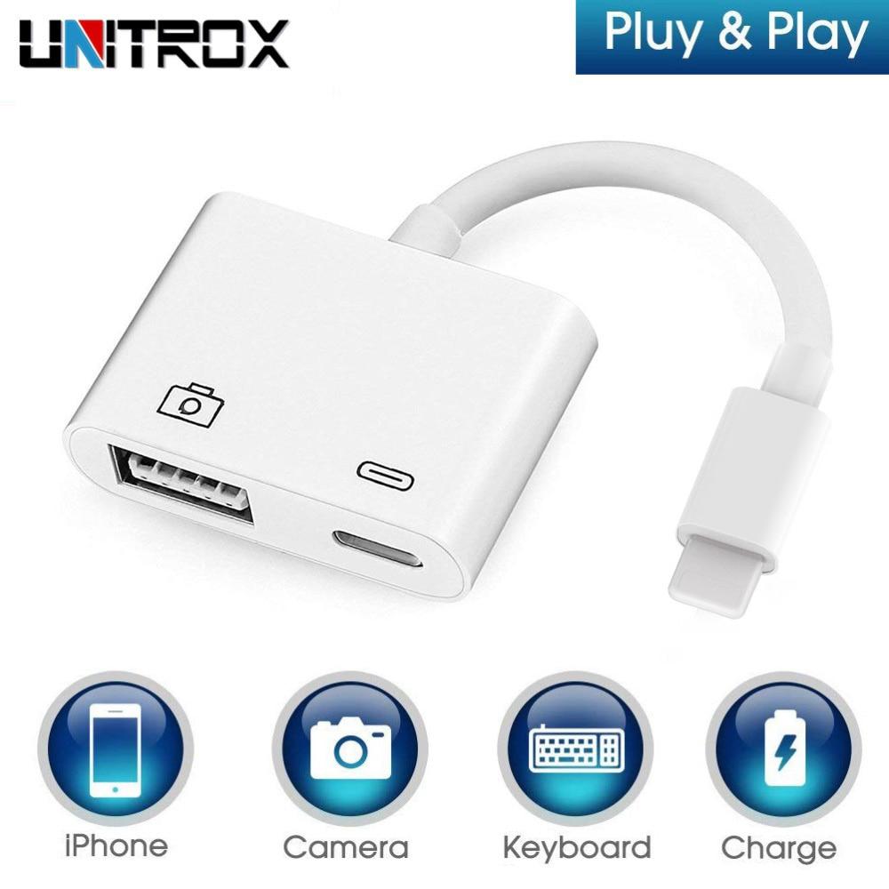 Купить со скидкой 2019 New OTG Digital Adapter for Lightning to USB 3 Camera Reader Charge Connection Kits Data Sync f