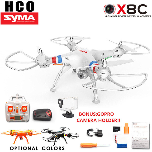 SYMA X8C X8 2.4G 4CH 6Axis Professional RC Drone Quadcopter With 2MP Wide Angle HD Camera Remote Control Helicopter Big Drone