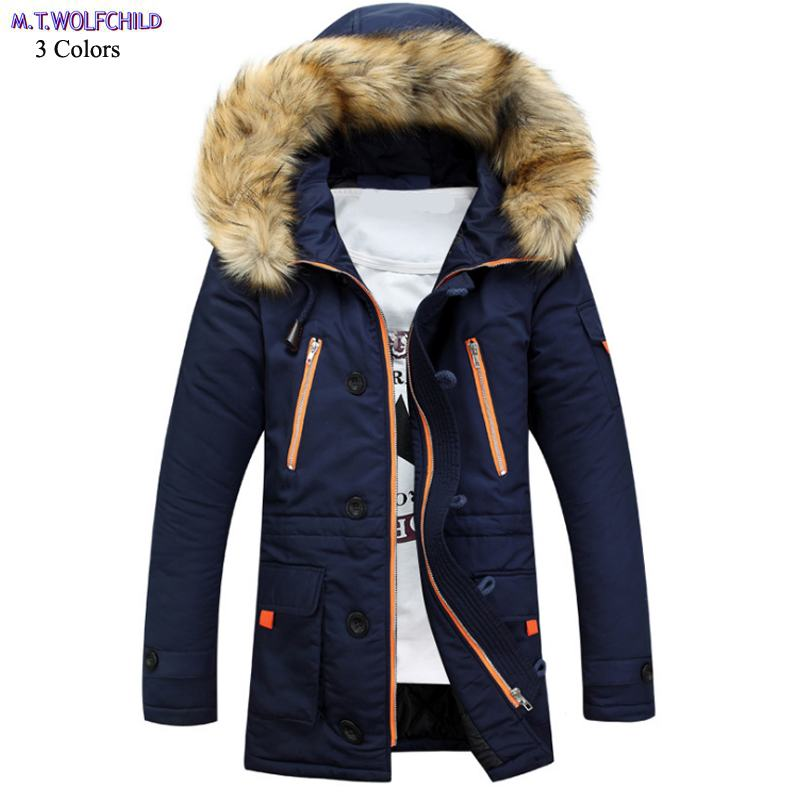 Good quality 2018 Winter New mens hooded zipper thick outerwear casual warm mens trench coats fashion mens   parkas   mens clothing