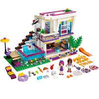 9985 Amici delle Livi Pop star House Building Blocks 601pcs Set Le Ragazze regalo FAI DA TE Per Bambini giocattoli Compatibile Con LegoINGlys 41135