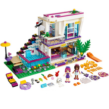 цена на New Best Friend Girl Series 9985 Livi's Pop Star House Building Blocks Set Bricks Toys Compatible Friends 41135