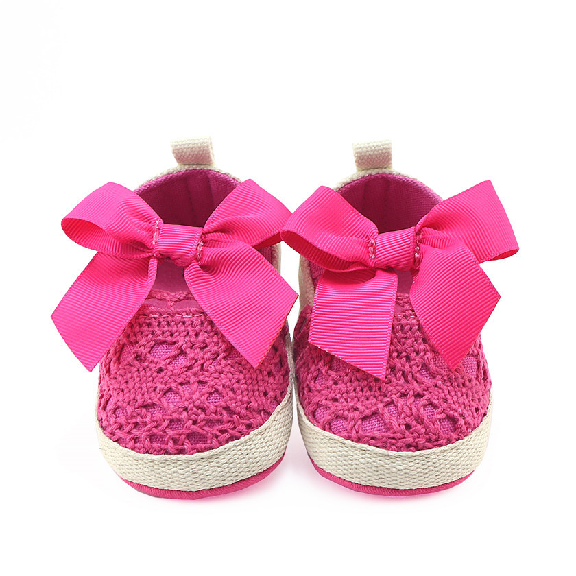 2018 New Baby Girls First Walkers Cute Bow Soft Sole Infant Toddler Shoes