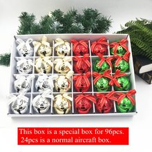 High quality 24 pieces / box of new Christmas bells 4 colors can be mixed color jingle when the decoration