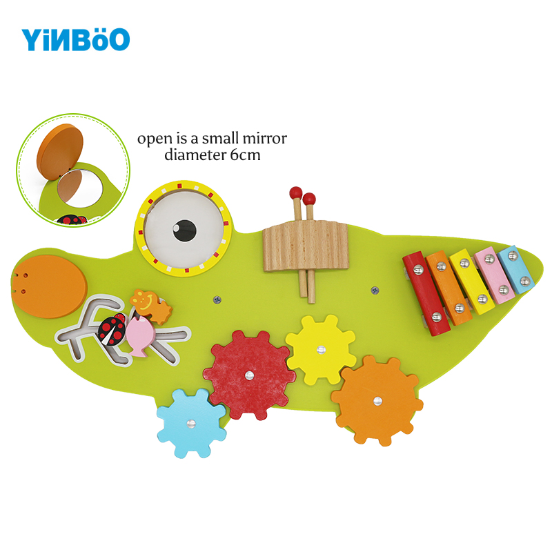 Wooden Toy Wall Game crocodile Educational Toys Mirror Musical gearwheel Small stick Kids Birthday Gift memory match wood funny wooden stick chess game toy montessori educational block toys study birthday gift for kids 3d puzzle