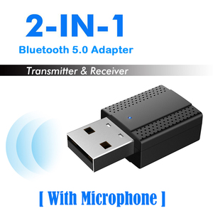 Bluetooth Adapter USB Audio Receiver 5.0 With-Mic Transmitter For Computer TV Laptop Projector MP3 For Bluetooth Headset Speaker