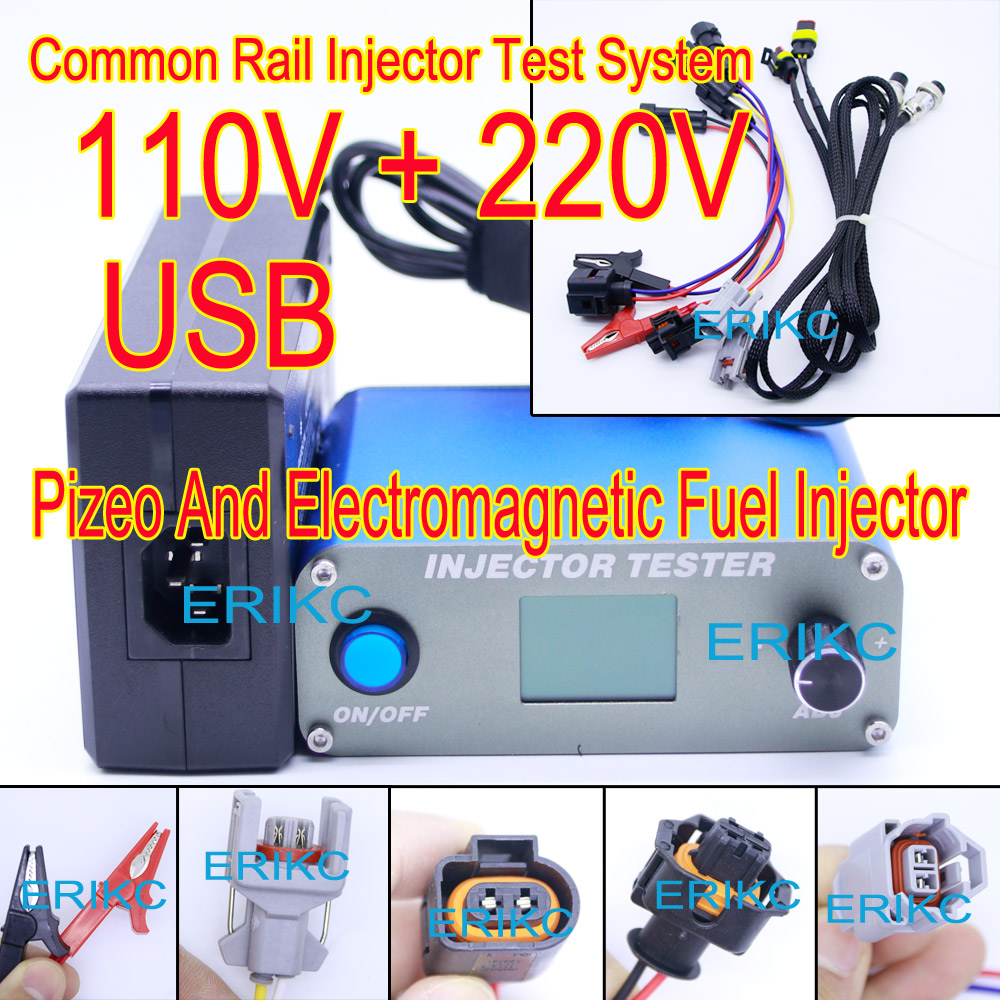 2018 ERIKC simulator and injector nozzle tester fuel injectiorn test equipment for electromagnetic and piezoelectric injector injector tester s60h hand pressure calibrator 60 mpa school nipple tool test bench checker nozzle tester 1pc