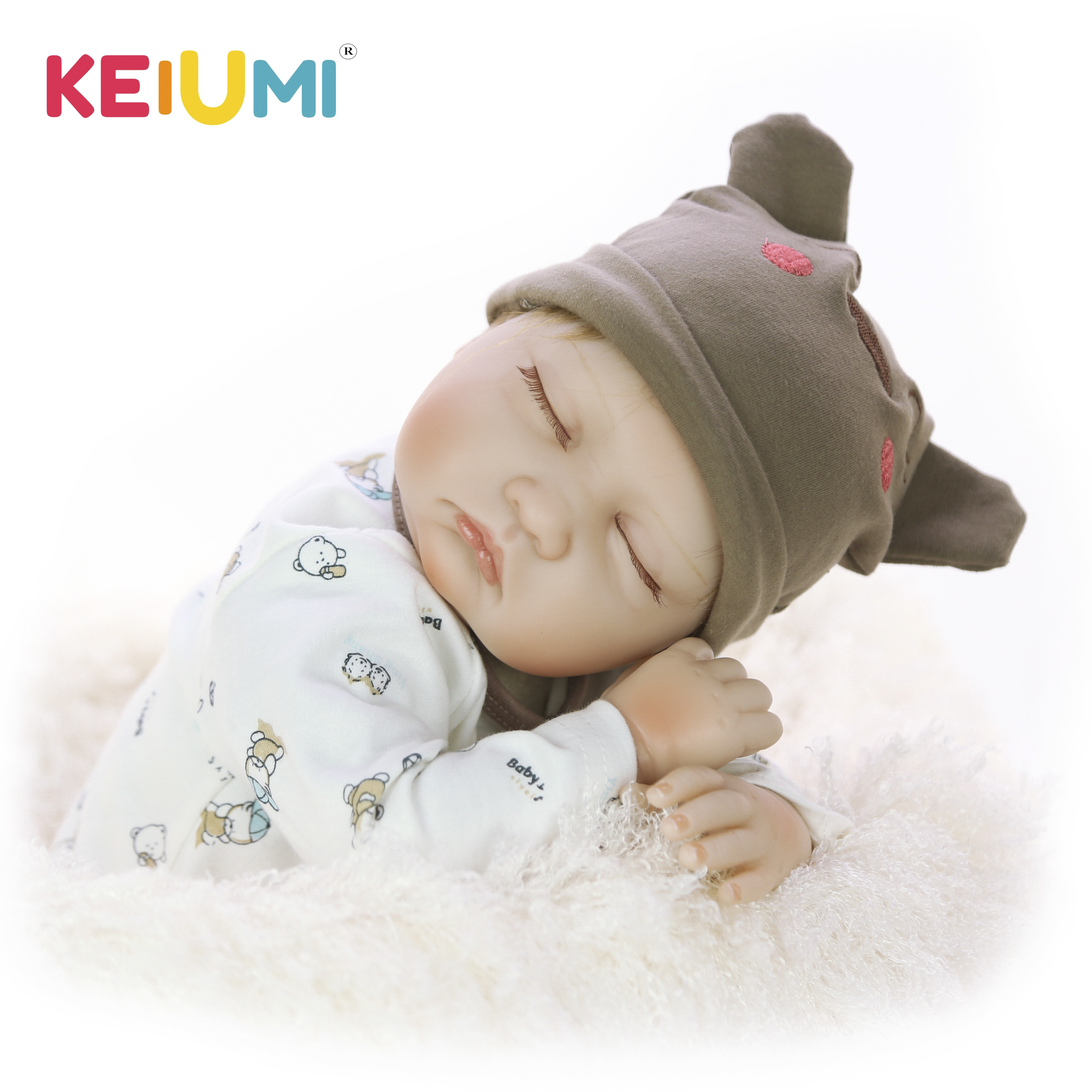 Hot Sale Lifelike Asleep Doll Reborn Real Baby Toy 22'' Soft Silicone Vinyl Boneca Reborn 55 cm Boy Kids Birthday Gift Playmate-in Dolls from Toys & Hobbies    1