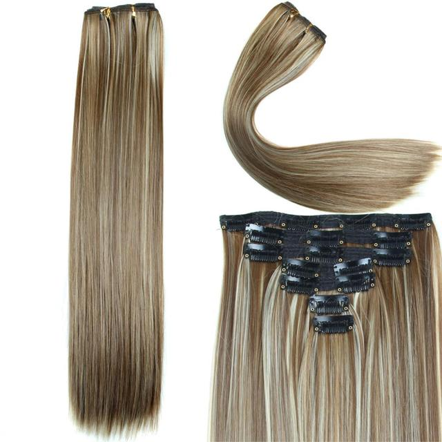 Full Straight Natural Color Synthetic Hair