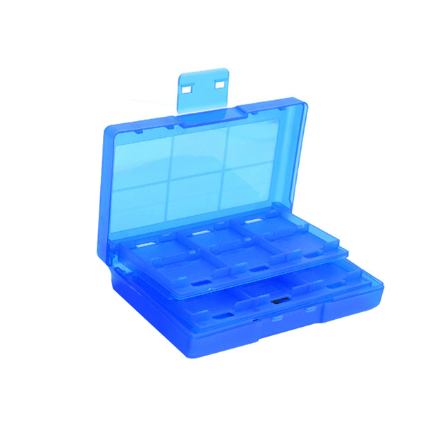 TF Card Storage Box Case Switch 24 In 1 Game Holder Durable Dustproof Protection LKS99