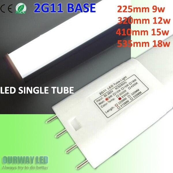 4 Pins PL LED 2G11 Tube 5730 Bar lamp 9W 12W 15W 18W 90-100lm/Watt Energy Saving Replace ...
