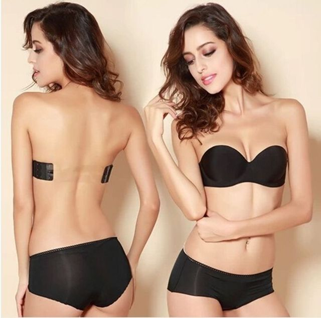 a8b017e2c5 Hot Sale Strapless Transparent Invisible Multiway Clear Back Straps Bra Push  up Underwear
