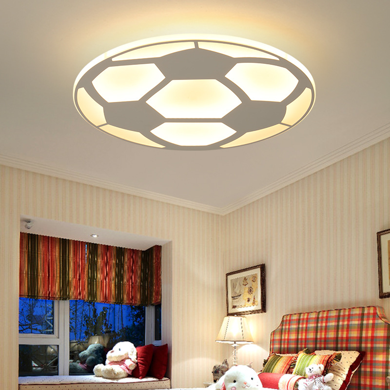 Современная Детская футбольная лампа, светодиодный потолочный светильник с пультом дистанционного управления, для гостиной, спальни, детской комнаты, Декор, Домашний Светильник, акрил