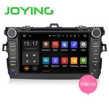 Joying Quad Core 1024*600 HD Doble 2 Din Android 5.1.1 Coche GPS de Navegación Para Toyota Corolla Reproductor de DVD Del Coche Unidad Principal + Cámara